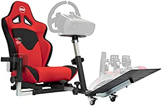 Openwheeler GEN2 Racing Wheel Stand Cockpit Red on Black   Fits All Logitech G29   G920   All Thrustmaster   All Fanatec Wheels   Compatible with Xbox One, Playstation, PC Platforms