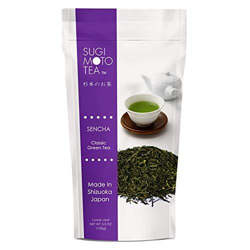 Sugimoto Tea Company SA Japanese Sen Cha, Loose Leaf, Package, White (ASINPPOSPRME18669), green tea, 3.5 Ounce