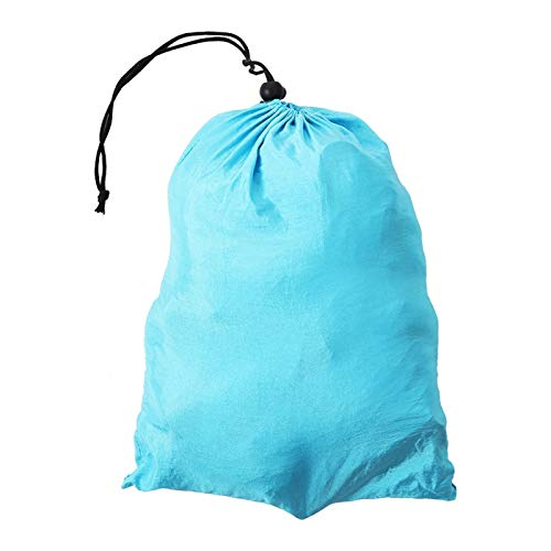 BOLORAMO Hamaca de Nylon de la Yoga de Las Telas de la Honda del oscilación de la Yoga, para la Forma del Cuerpo(Sky Blue and Fruit Green)