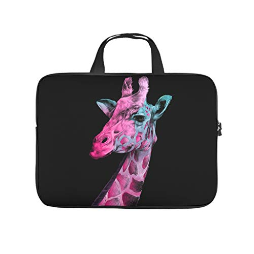 Giraffe Animal Abrasion Resistant Waterproof Super Lightweight Laptop Bag with Strap Hand Bag Laptop Messenger Bag for Office School Business Trip for Men Women White 10 Zoll