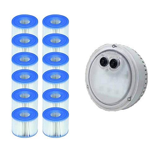 Intex PureSpa - Luz para jacuzzi Bubble Spa + cartuchos de repuesto S1 (12 unidades)