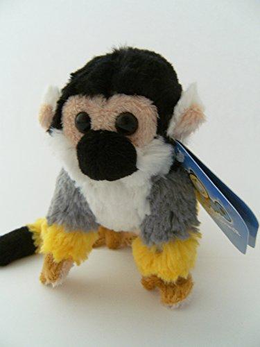 Stofftier Totenkopfäffchen, 13 cm, Kuscheltier Plüschtier, Affe Affen Totenkopfaffe