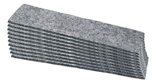 SIGEL MU205 Recambios de fieltro para el borrador de pizarra MU 04, para recambio, gris, 10 unidades