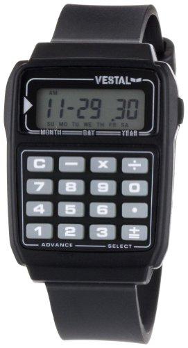 Vestal Unisex-Armbanduhr Datamat Digital Kunststoff durchsichtig DAT008