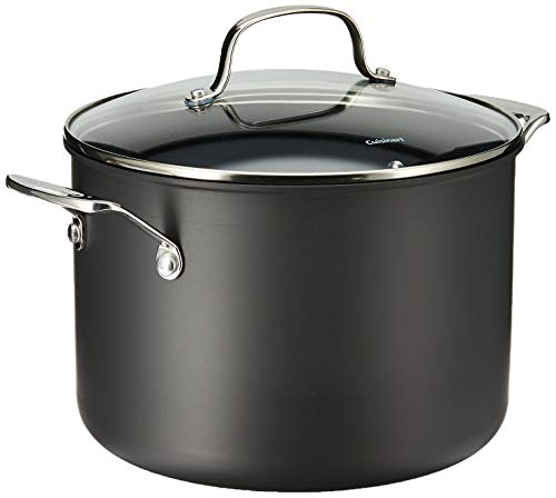 Cuisinart Chef's Classic Nonstick Hard-Anodized 8-Quart Stockpot with Lid,Black