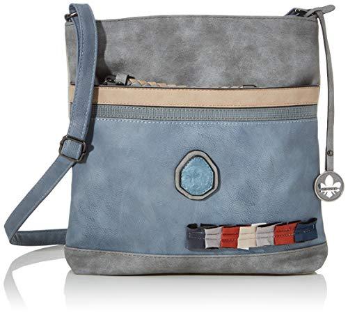 Rieker Damen Handtasche H1310, Grau (Asche/grau/Nude), 280x55x300 cm