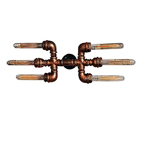 ZZYJYALG. Esterni Retro Loft E26 E27 LED metallo del tubo di acqua parete Luce Retro Industrial Steampunk Ingresso porta della cucina parete Lampada da parete montato su una lampada for le lampade da