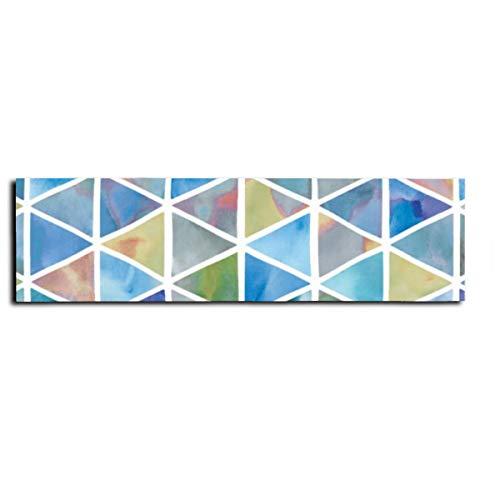 Triángulos modernos en multicolor para monopatín, cinta antideslizante para monopatín, scooter, tabla larga, pedal de 22 x 83 cm