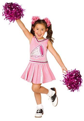 Karneval-Klamotten Cheerleader Kostüm Kinder Cheerleading Uniform Kinderkostüm Fasching MIT Pompoms