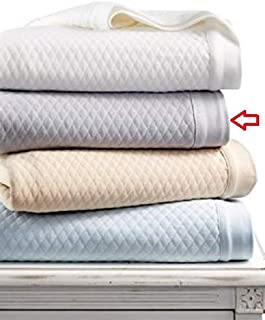 Martha Stewart Collection Quilted Triple Knit Twin Blanket