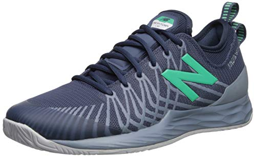 New Balance Men's Fresh Foam Lav V1 Hard Court Sneaker, Vintage Indigo/Reflection, 7.5