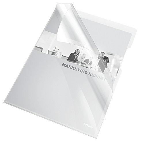 ESSELTE Buste 'L' PVC Cristal Lucide - f.to A4 - Trasparente - 55430