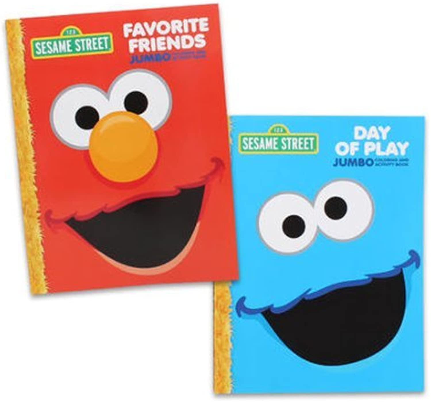 Sesame Street coloring Book Set (2 Books  Elmo and Cookie Monster) by Sesame Street