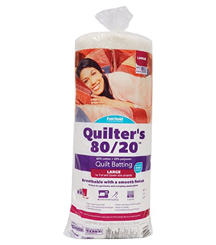 Fairfield Quilter's 80/20 80/20-Queen Size 90' x 108', 90' x 108', White