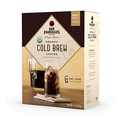 Don Francisco's Organic Cold Brew Coffee, Premium 100% Arabica Beans (Makes 12 x 8 oz. Servings)