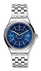 Swatch Sistem51 Irony Swiss Automatic Stainless Steel Strap, Gray, 21 Casual Watch (Model: YIS401G)