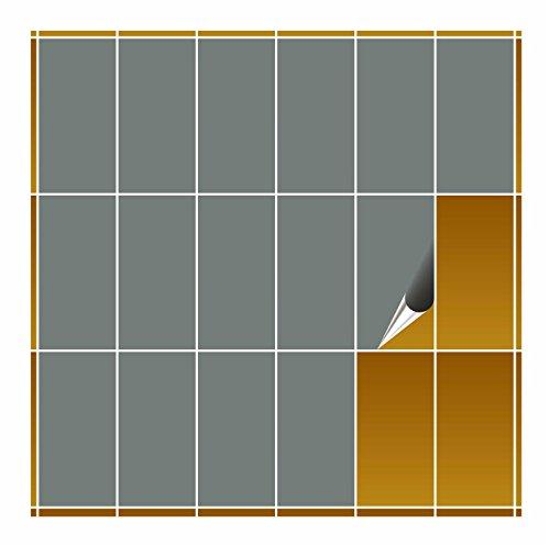 FoLIESEN–fliesenaufkleber–Farbe frei wählbar–10cm x 20cm, Gris Matt, 40 pièces