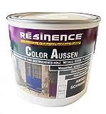 Resinence 250ml, Color Aussen Amsel-Schwarz Seidenmatt, Aussenbereich