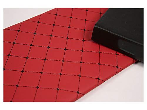 1 METRO de Polipiel para tapizar,Tela De Grano De Cuero De Imitación Eco-cuero imitación de cuero natural Tela de polipiel fina y elástica manualidades, cojines o forrar objetos-Plaza roja 1.43x6m