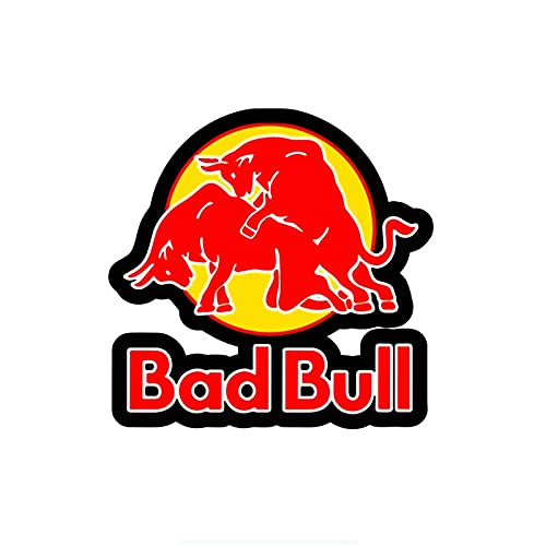 PMSMT Etiquetas engomadas del Coche decoración calcomanías de la Motocicleta Funny Bad Red Bull gráficos Accesorios Decorativos PVC Creativo dwaterproof Water, 15cm * 15cm