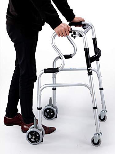 Andador plegable 4 ruedas Klip Lightweight Medical Poster Rollator Walker-Gait Trainer para niños pequeños, niños, adolescentes con necesidades especiales, parálisis cerebral -8
