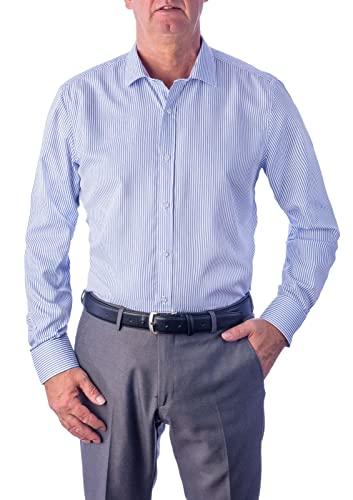 1stAmerica1st American Elegante Camisa Formale Algodon Fácil Planchado - Blusa Manga Larga Cuello Clásico Regular Fit