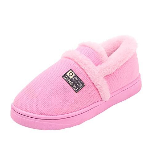 MOMOXI 2019 Invierno Nuevo Todo Incluido para Mujer con Calzado para El Hogar MáS Botas De AlgodóN De Terciopelo De CáLido, Moda Zapatillas Suaves y Interior Piso Zapatos de Dormitorio Botas 36-41