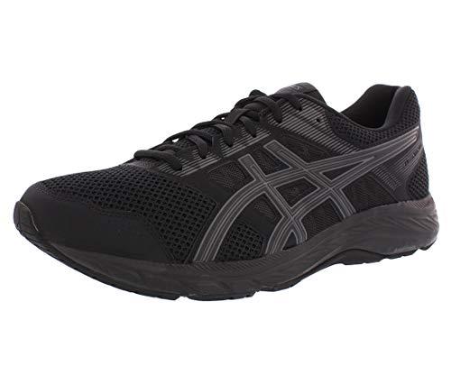 ASICS Men's Gel-Contend 5 Running Shoes, 10.5, Black/Dark Grey