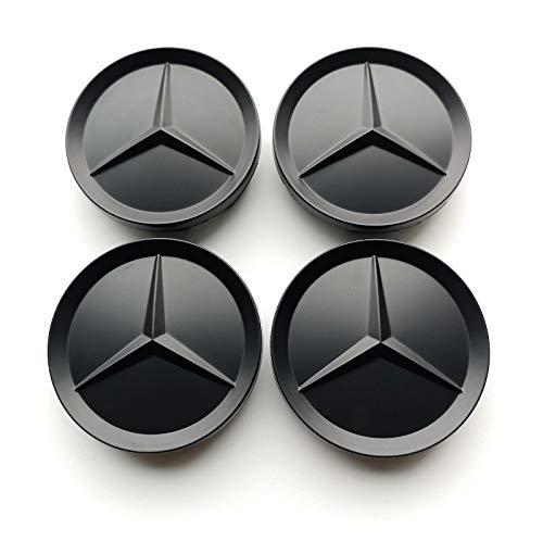 Felgendeckel Mercedes Benz 4 x 64mm Nabendeckel Radnabenkappen Felgenkappen Nabenkappen Schwarz Wheel Caps