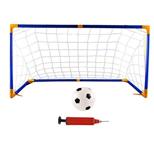 BESPORTBLE 1 Juego de Juego de Portería de Fútbol para Deportes Portería de Fútbol ??Juego de Fútbol Portátil para Niños Juego de Fútbol para Juegos Escolares en El Patio Trasero con Inflador