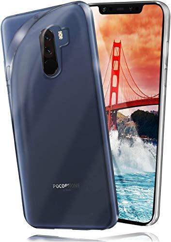 moex Aero Hülle kompatibel mit Xiaomi Pocophone F1 - Hülle aus Silikon, komplett transparent, Klarsicht Handy Schutzhülle Ultra dünn, Handyhülle durchsichtig einfarbig, Klar