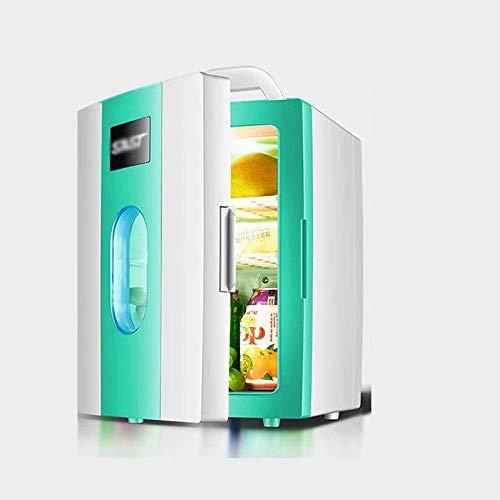 DKBE Mini frigorífico refrigerador caliente   Capacidad: 10 l   12 V/220 V para coche y casa compacta, portátil y silencioso, 23,5 x 26 x 33,5 cm