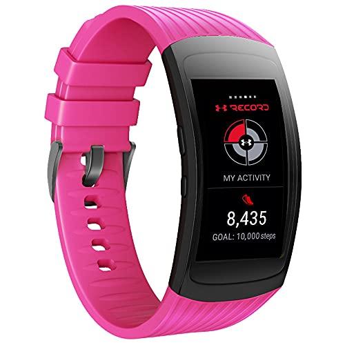 ANBEST Pulsera de Silicona Compatible con Samsung Gear Fit 2/Gear Fit 2 Pro Correa, Pulsera Deportiva de Repuesto para Gear Fit 2 Pro SM-R365/Gear Fit 2 SM-R360 Hombres & Mujeres, Rosado