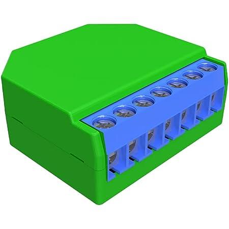 Shelly DIMMER 2 Dispositivo Wi-Fi per il Controllo di Luci Alogene, LED, Trasformatori Ferromagnetici Dimmerabili, Supportati da un'Alimentazione di 110-230V, Verde