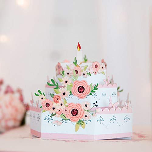 Happy Birthday Pop Up Card (3D Cake), Greeting Card, 3D Cards, Birthday pop up cards, Birthday Card, Birthday Pop Up Card, Birthday Greeting Card