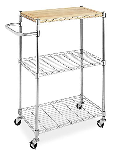 Our #5 Pick is the Whitmor Supreme Kitchen Cart