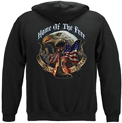 Erazor Bits Patriotic Hoodie | Home of The Free Kapuzen-Sweatshirt MM141SW -  Schwarz -  XXX-Large