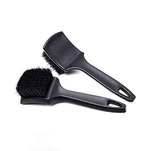 2 Pack Tire Brush, Black Stiff Bristle Wheel Cleaning Brush,...