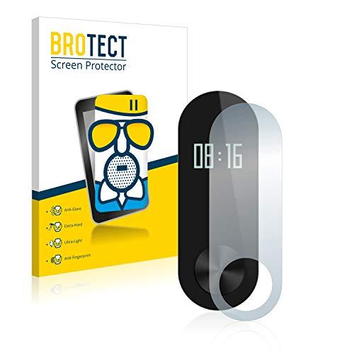 BROTECT Protector Pantalla Cristal Mate Compatible con Xiaomi Mi Band 2 Protector Pantalla Anti-Reflejos Vidrio, AirGlass