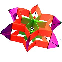 Beautiful 3D Lotus Flower Kite For Kids And Adults