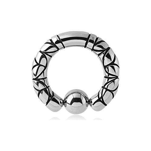 Ring Kugel Stahl Sandro–Armreif/Schaft 4mm, Durchmesser 12,7mm, Kugel 6mm