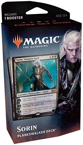 Magic The Gathering: MTG: Core Set 2020 Planeswalker Deck - Sorin w/Booster Pack (Black)