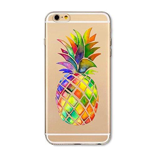 """Coque pour iPhone 6 iPhone 6S Silicone, Ultra Fine Transparente Souple Mince TPU Étui pour 4.7"""" iPhone 6/iPhone 6S Slim Antichoc Léger Bumper Housse de Protection - Fruit Ananas"""