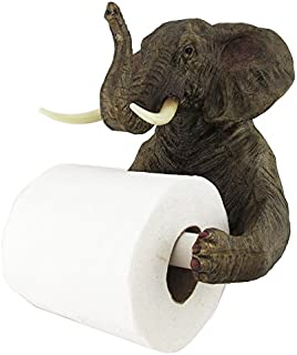 Ebros Pachyderm Servant Safari Elephant Holding Toilet Tissue Paper Holder Figurine Home Decor Great Present For Savanna Lovers Elephant Fans Excellent Decor For Toilets Powder Rooms