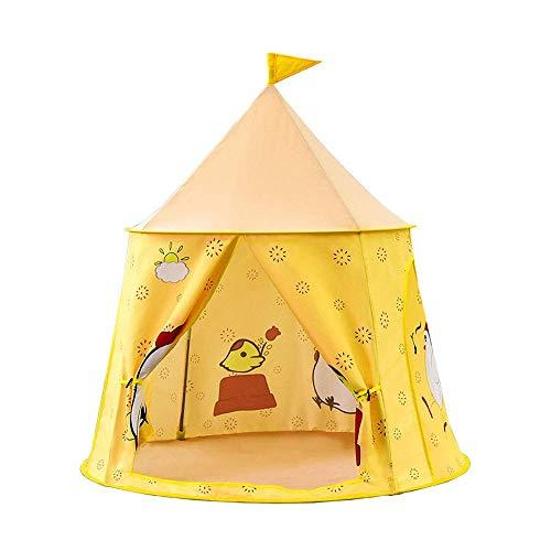 SHWYSHOP Carpas para niños, Carpas Divertidas en el Teatro de Animales de Dibujos Animados, Juegos de imaginación Interiores y Exteriores para niñas y niños, Juguetes de Regalo (Amarillo)