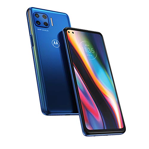"Motorola moto g 5G plus (5G, quad camera 48MP, batteria 5000 mAH, Display CinemaVision 6.7"" FHD+, Qualcomm Snapdragon SD765, Dual SIM, 4/64GB, Android 10), Surfing Blue"
