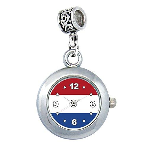 Timest - Bandera de Países Bajos - Reloj para el Collar o...