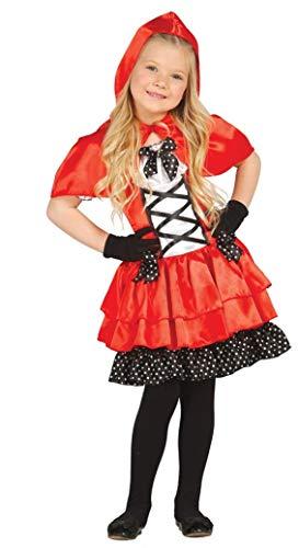 Filles Petit Chaperon Rouge Conte de Fée Livre Jour Halloween Déguisement Costume Tenue 3-12 Ans - Rouge, Rouge, 10-12 Years