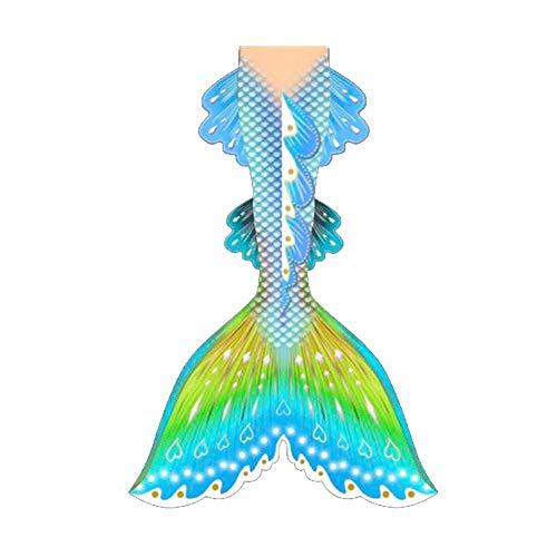 Meerjungfrau Schwanz, Meerjungfrau Flosse, Prinzessin Cosplay Bademode Für Das Schwimmen Mit Bikini Set Und Monoflosse(Color:Stil B.)
