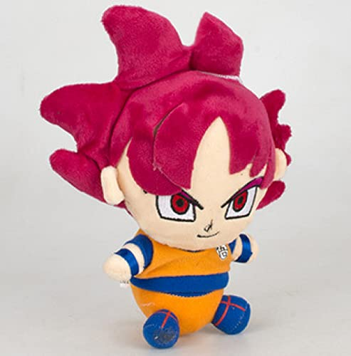 yskcsry Anime Dragon Ball Super Red Goku Fansora Vegetabu Osharu Fuli Muñeco De Peluche Colgante De Juguete Juguetes De Peluche Suaves Cumpleaños para Niños 18Cm